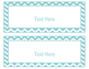 Blue Coral Decor: Editable Large Labels