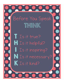 Blue Coral Decor: THINK Poster