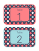 Blue Coral Decor: Table Numbers