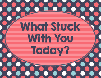 Blue Coral Decor: What Stuck With You Today? Poster Kit