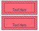 Blue Coral Decor: Editable Nameplates