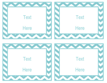Blue Coral: Editable Small Labels