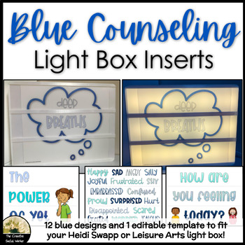 Blue Counseling Decor Lightbox Inserts