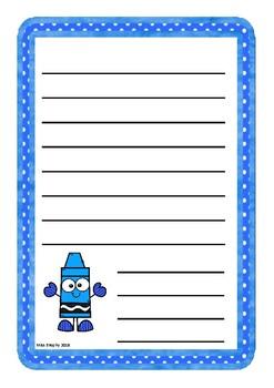 Blue Crayons Worksheets
