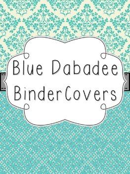 Blue Dabadee Editable Binder Covers