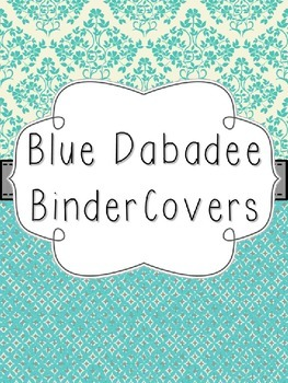 Blue Dabadee Editable Binder Covers