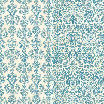 Damask Patterns: Blue