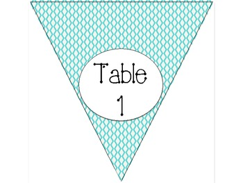 Blue Design Table Numbers