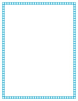 Blue Diamond Border Set