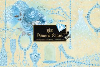 Blue Diamond Clipart