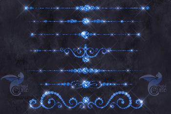 Blue Diamond Dividers Clipart
