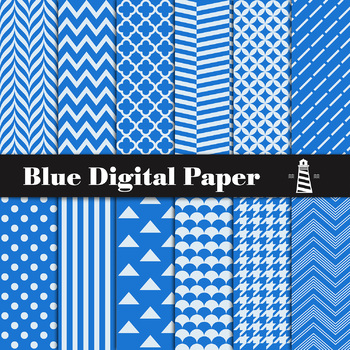 Blue Digital Paper, Blue Paper, Blue Backgrounds, Digital Scrapbooking