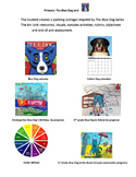 Primary Art Unit Blue Dog  Watercolor crayon resist painting