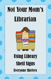 Blue Dot Library Shelf Sign Collection