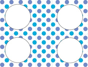 Blue Dots Classroom Labels and Tags