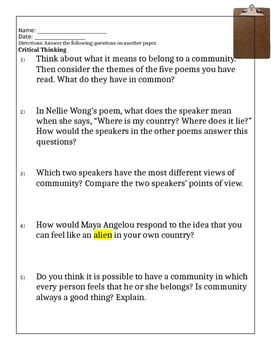 Blue Edge page 671 critical thinking questions