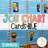 Blue Editable Job Chart Cards