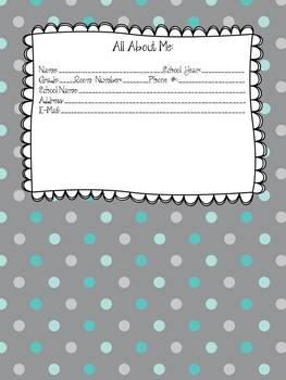 Blue Elephant Medley Teacher Planner/Binder