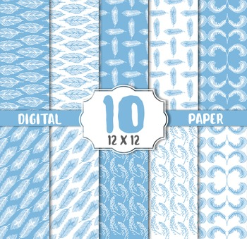 Blue Feather Digital Paper