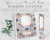 Blue Floral BINDER COVER | Google Slides Template | DIY Printable