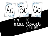 Blue Flower Alphabet Posters