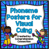 Phoneme Posters: Blue Striped Frame