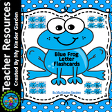 Blue Frog Alphabet Letter Flashcards