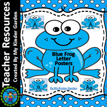 Blue Frog Alphabet Letter Posters / Word Wall Headers