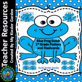 Blue Frog Dolch First Grade Sight Word Flashcards and Posters