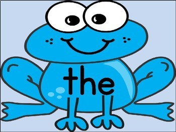 Blue Frog Dolch Pre-Primer Sight Word Flashcards and Posters