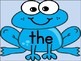 Blue Frog Dolch Sight Word Flash Cards & Posters Pre-Primer High Frequency Words
