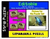 Blue Frog - Expandable & Editable Strip Puzzle with Multip