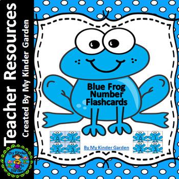 Blue Frog Math Number Flashcards 0-100