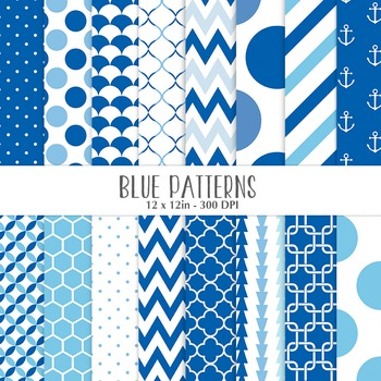 Blue Geometrical Patterns