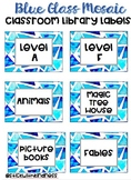 Blue Glass Classroom Library Labels