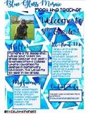 Blue Glass Mosaic Meet the Teacher Letter EDITABLE