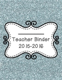 Blue Glitter 2015-2016 Teacher Binder