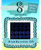 Blue Glitter Button Numbers 0 - 9