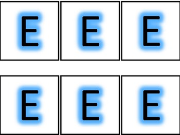Blue Glow Boggle Letters