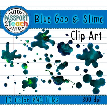 Blue Goo and Slime Clip Art for Commercial Use