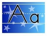 Blue Gradient Alphabet Line - Zaner Bloser