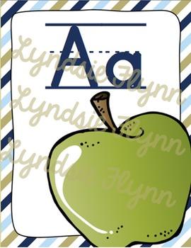 Blue & Green Alphabet Posters