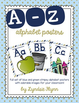 Blue & Green Alphabet Posters