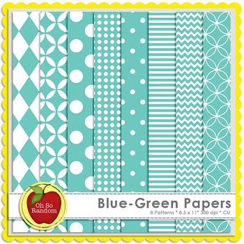 Blue-Green Basic Digital Papers