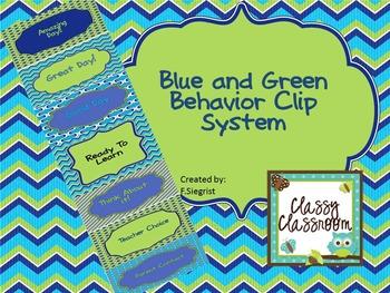 Blue Green Behavior Clip Chart