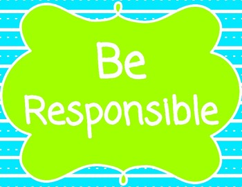 Blue & Green Brights Theme 2 PBIS Posters