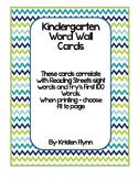 Blue & Green Chevron Kindergarten Reading Street/Fry Word
