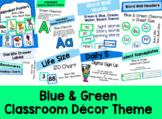 Blue & Green Classroom Decor Bundle