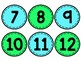 Blue & Green Classroom Numbers/Students Numbers (1-36)