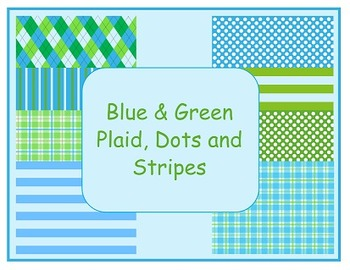 Blue & Green Digital Papers (Backgrounds)